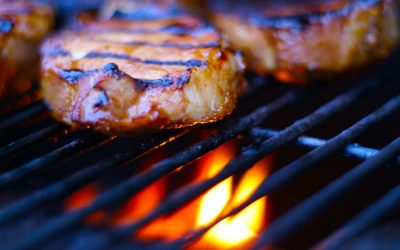 Grilled Pork Chops with Garlic and Ginger