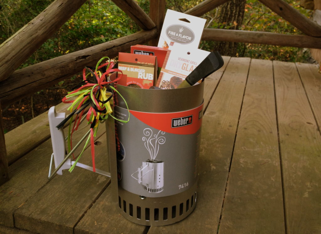 A Chimney Starter is useful two ways: it will be your fire starter, AND, it serves as a container to fill with BBQ rubs, spices, tongs, smoking woods and marinades. The ultimate Grilling/BBQ gift for the outdoor cook in your life.