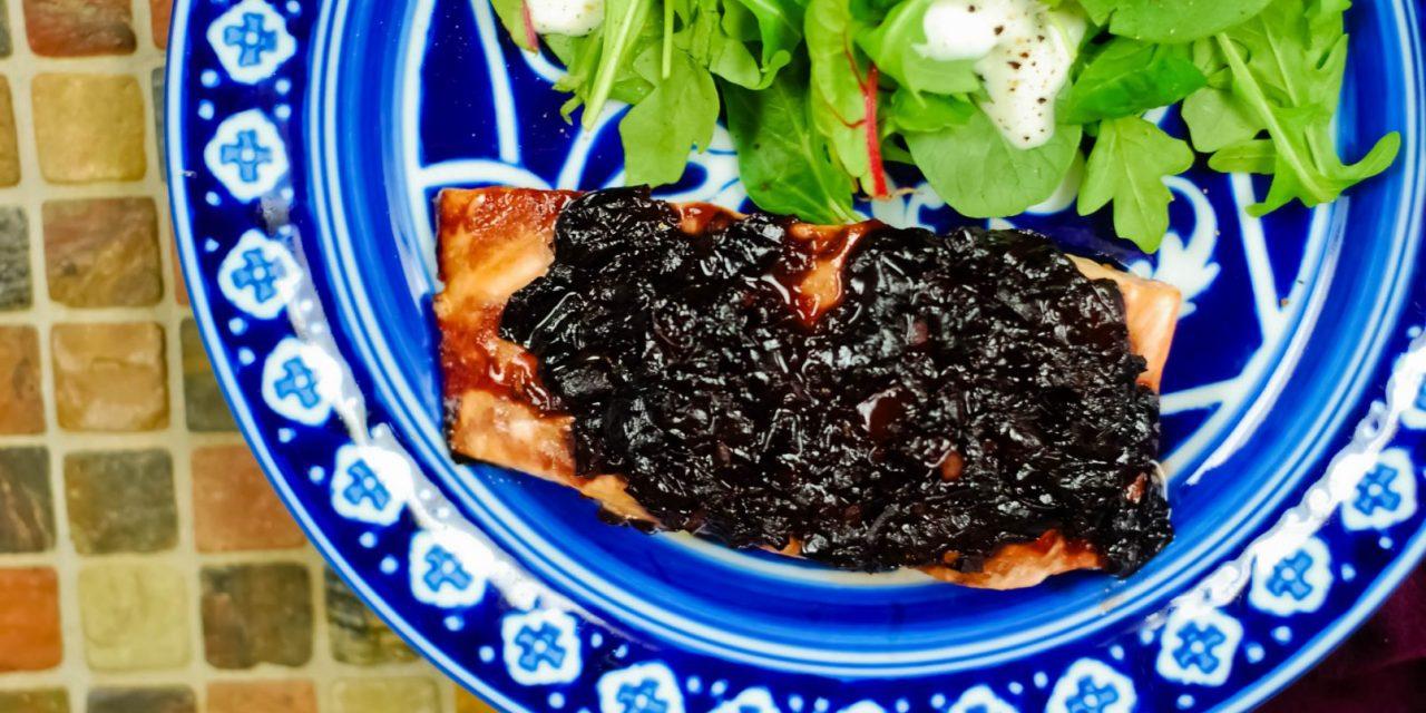 Grilled Salmon with Cherry Glaze