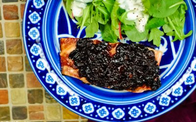 Grilled Salmon with Cherry Glaze