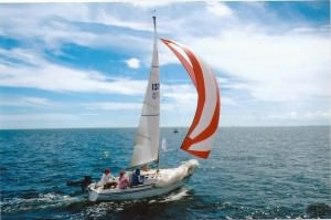 """One of our favorite sailboat races is the """"Columbus Day Regatta""""."""