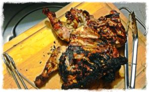 rosemary lemon, grilled rosemary lemon chicken, spatchcocked chicken, how to grill a whole chicken