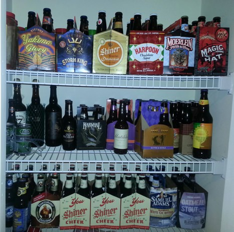 The Beer Pantry at my Home. Be jealous, be very jealous.