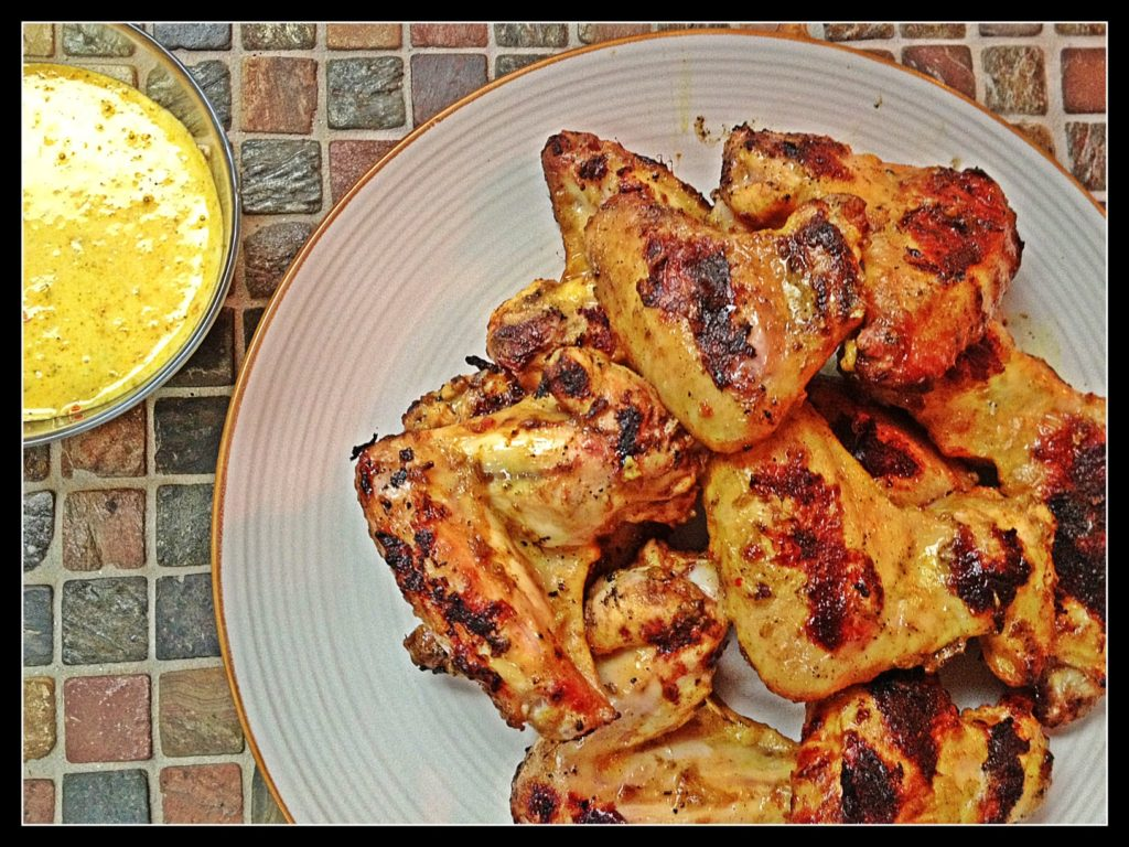 Curried Coconut Wings, Island Inspried Wings, Caribbean hot sauce wings, Habanero wings, coconut milk and ginger wings,