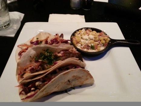 BBQ Brisket tacos at Local Gastropub in Memphis, TN.
