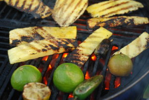 Grill the limes for char marks and serve with the chips and salsa for a cool presentation. The grilled lime is also great rubbed on the tortilla chips....