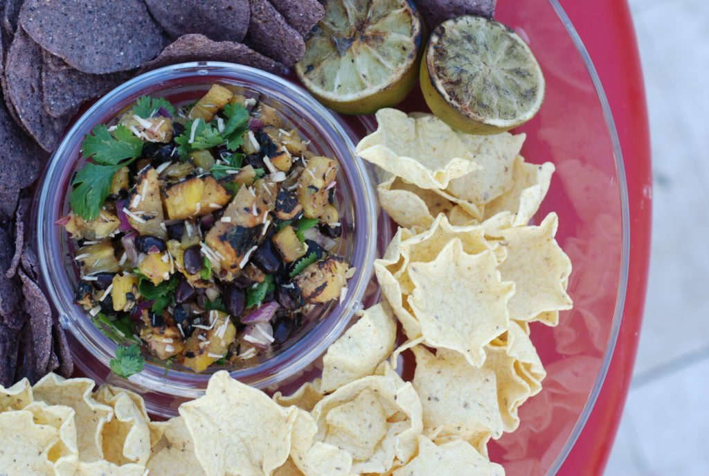 Grilled pineapple salsa, grilled pineapple salsa, pineapple black bean salsa