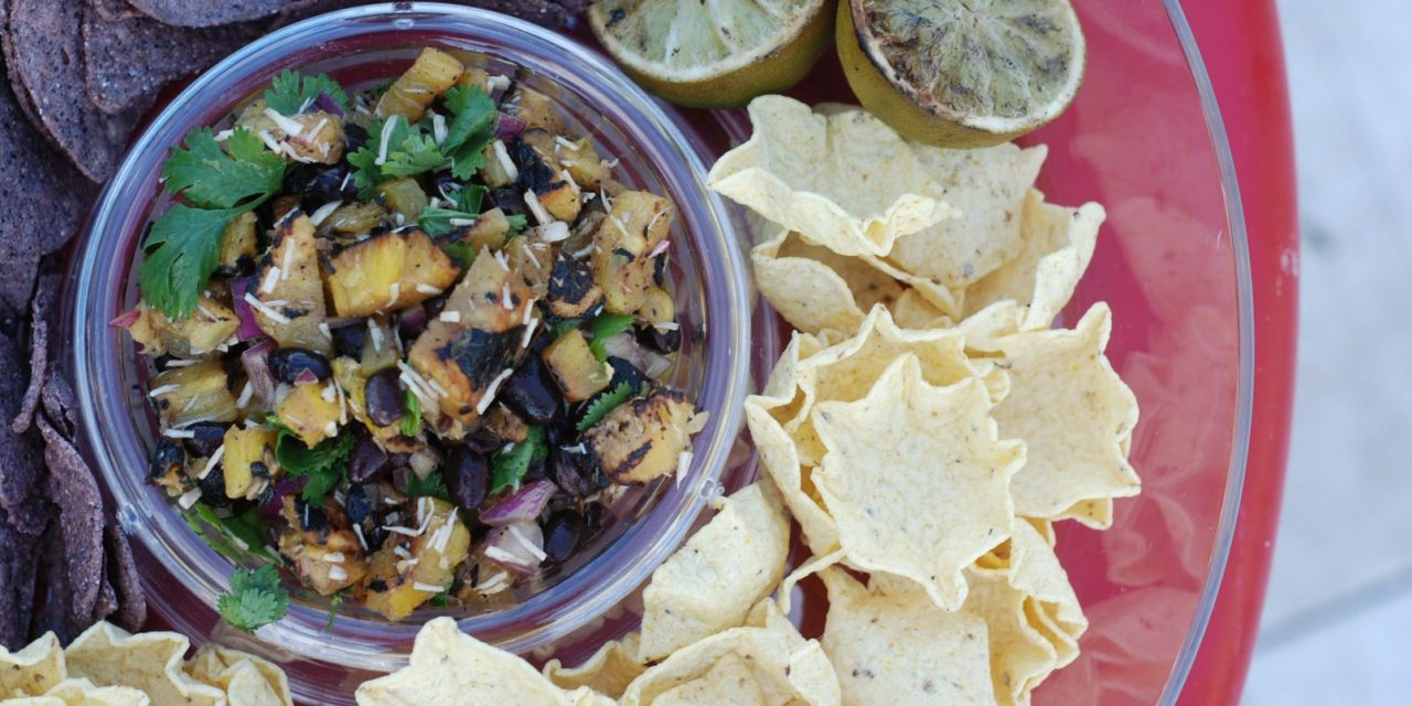 Grilled Pineapple and Black Bean Salsa