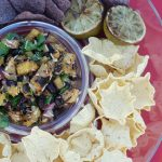 Grilled pineapple salsa, grilled pineapple salsa, pineapple black bean salsa