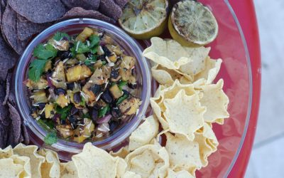 Grilled Pineapple Black Bean Salsa
