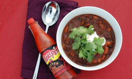 Vegetarian Chili with Fire Roasted Poblano and Jalapeno