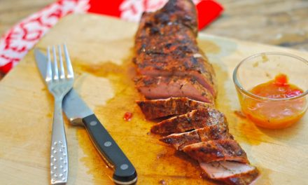 Grilled Pork Tenderloin with Mango Ginger Chutney Glaze