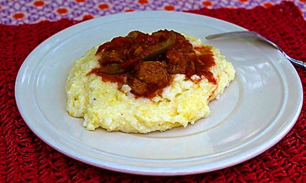 'GrillGrrrl Take Two' Recipes:  Chicken Sausage with Sundried Tomatoes And Grits