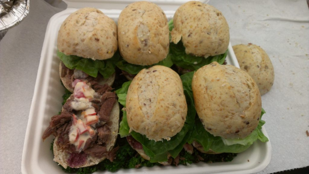 Goat sliders- goat can be surprisingly tasty if you know how to cook it correctly!