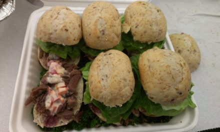 Goat Sliders With Wine Reduction and Blue Cheese Sauce