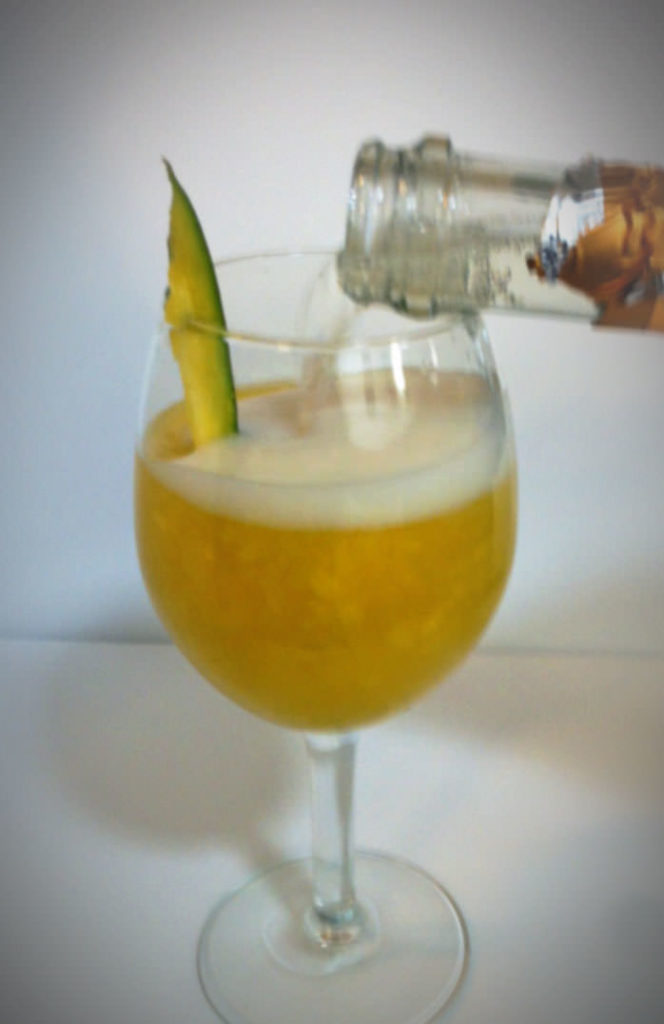 This mango bellini adds the perfect amount of bubbly to your Mother's Day celebration.