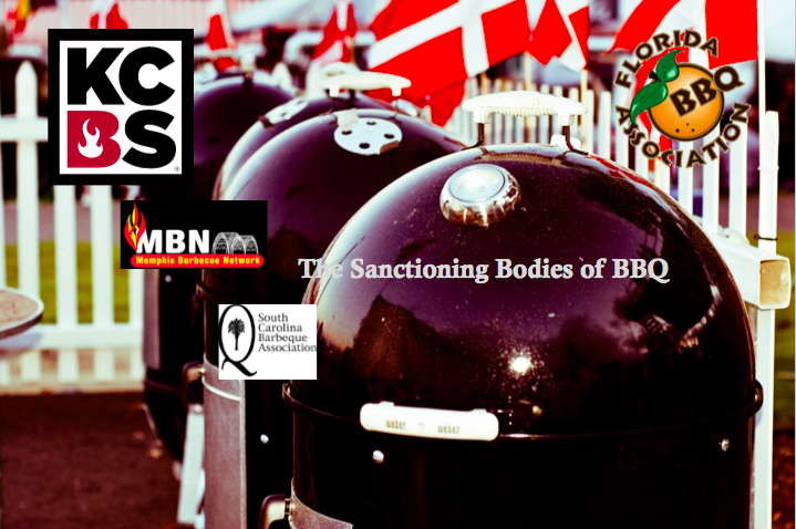 sanctioning bodies of bbq, kdbs, scba, fba, florida bbq association, kansas city bbq association, south carolina bbq association