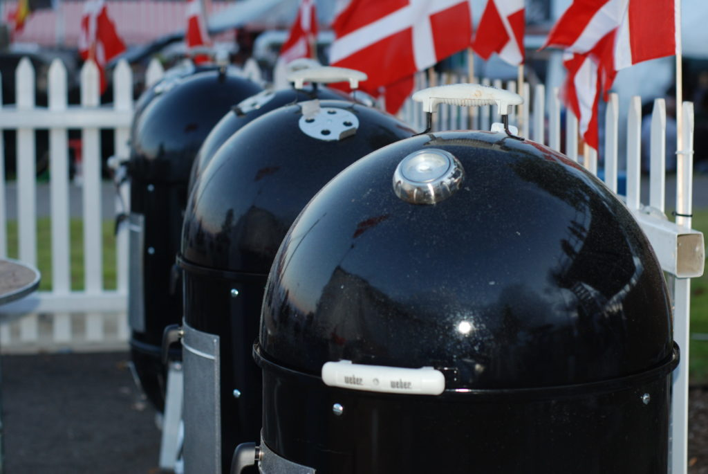 The Danish National BBQ compete solely on Weber Smoky Mountain water smokers.