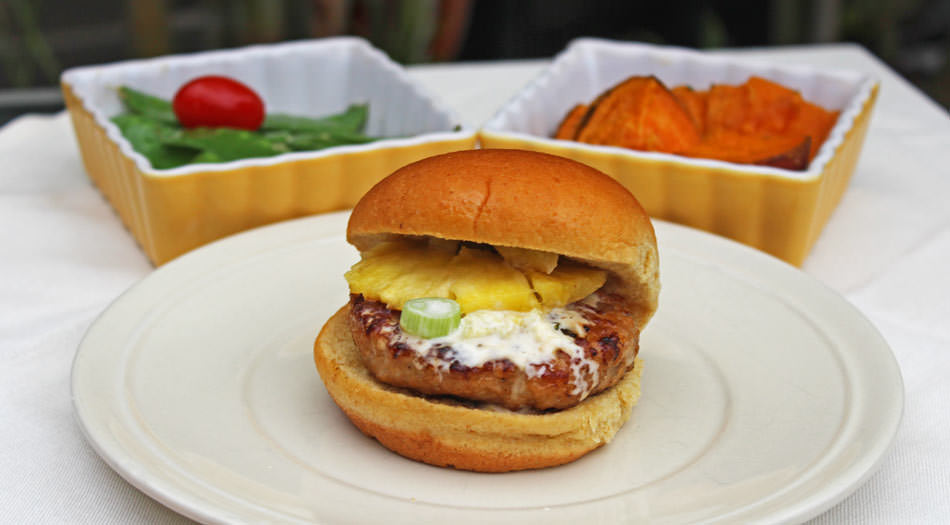 The Aloha Chicken Burger with it's Pineapple Mayo Sauce will round out your Burger line-up this summer - Michelle Lara