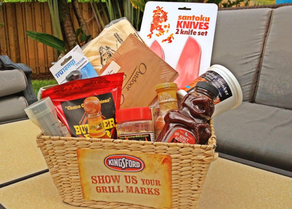 Not sure what to get your Dad this year for Fath'ers Day- make him a BBQ/Grilling gift basket!