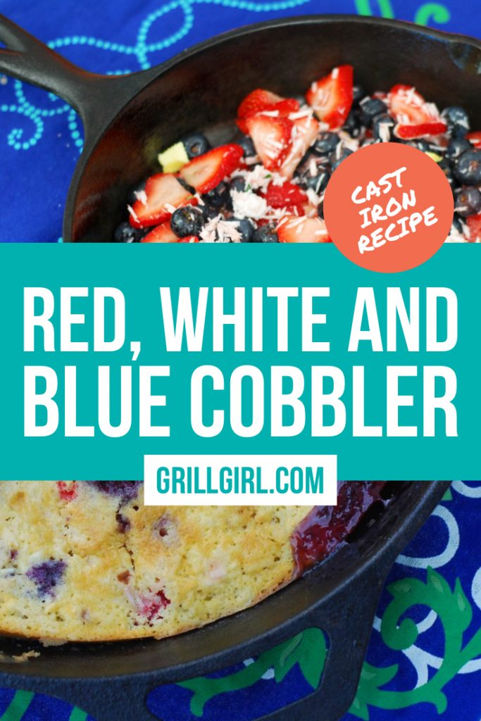 Red, White and Blue Cobbler for American Holidays