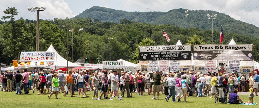 The Blue Ridge BBQ Festival Takes place in the Tryon, NC in the Appalachian Mountains.