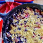 Red, White and Blue Cast Iron Cobbler