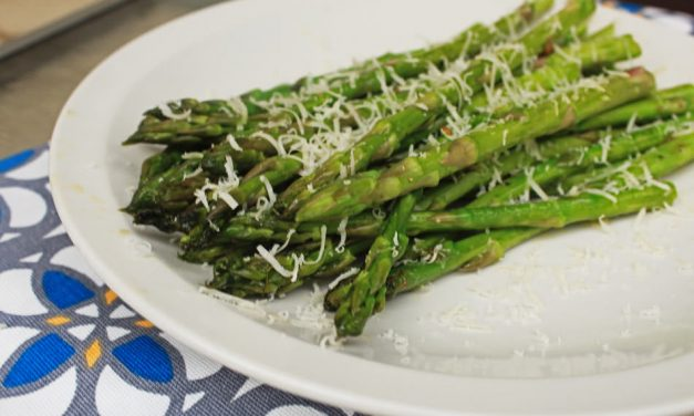 Grilled Asparagus with Garlic and Parmesan Cheese