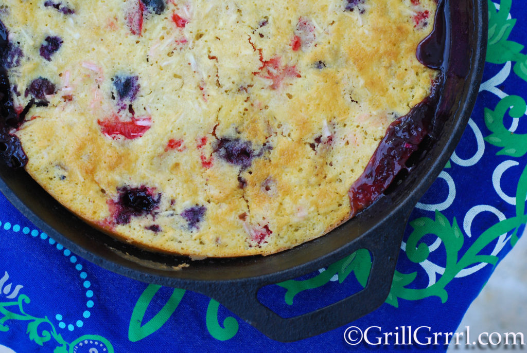 #4thofjuly recipes, berry cobbler, patriotic