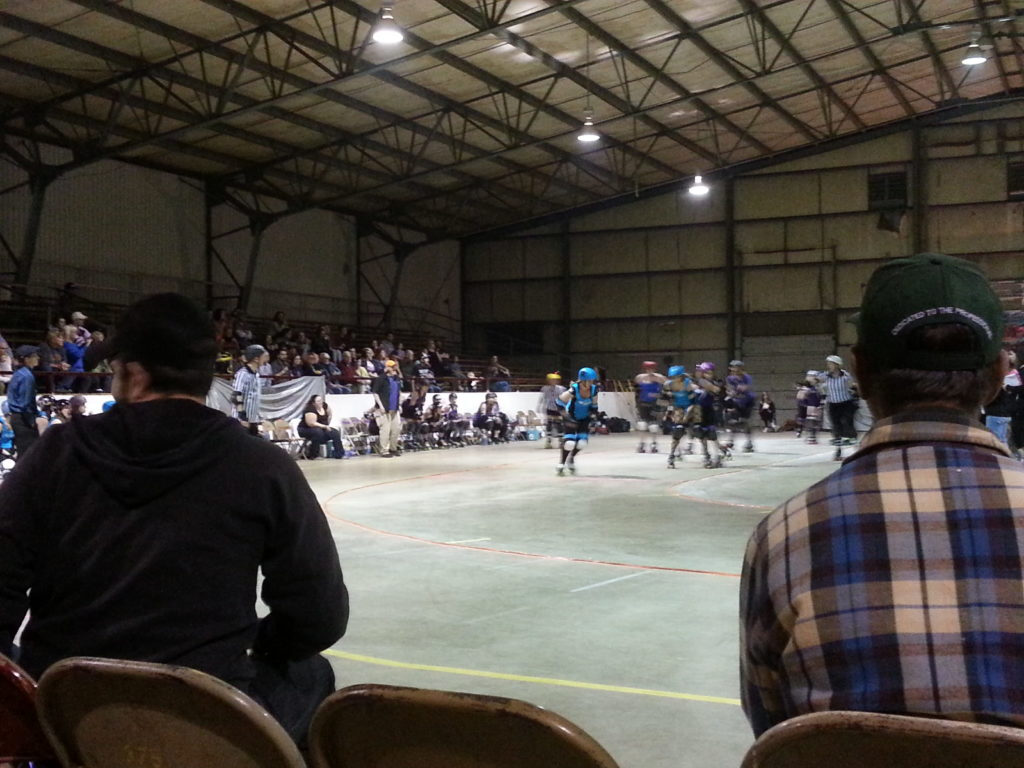 Roller Derby in Columbus, MS was a fantastic post-BBQ treat.