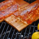how to make cedar planked salmon on the big green egg