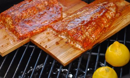 Cedar Planked Salmon on the Big Green Egg