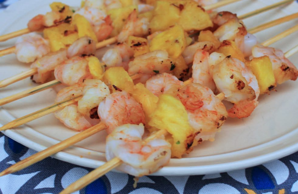 Grilled Shrimp and Pineapple Skewers