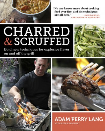 "Cookbook and Sauce Giveaway! Adam Perry Lang's Charred and Scruffed tests your conventional idea about over handling meat. This book will teach you to be an ""Active griller""!"