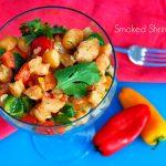 smoked shrimp salad on the bge
