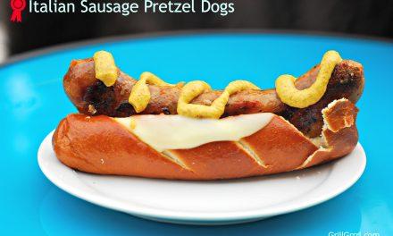 Italian Sausage Pretzel Dogs