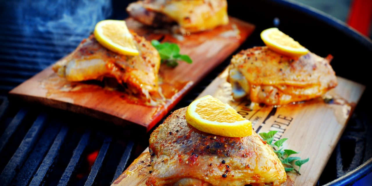 cedar planked chicken, smoked chicken, how to plank chicken, smoked chicken