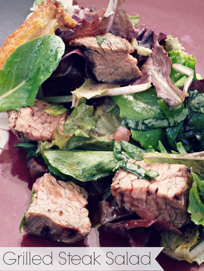 Quick and easy salad that is low on work but filled with grilled goodness - Michelle Lara
