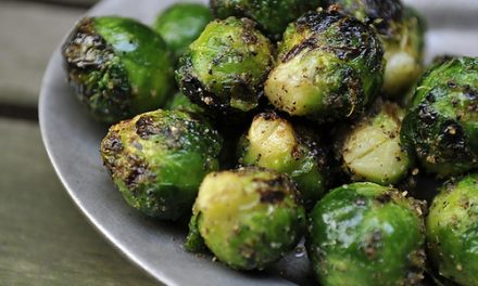Garlic And Balsamic Glazed Brussels Sprouts