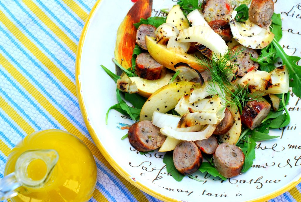 grilled fennel and chicken sausage