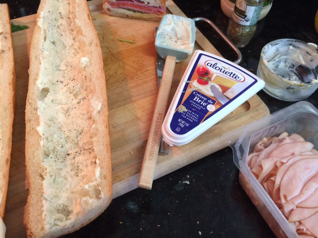 It helps to pull out some of the bread from the baquette to make more space for the ingredients.