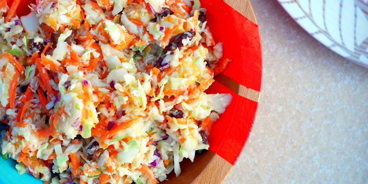 Caribbean Coleslaw with Pineapple and Shredded Coconut