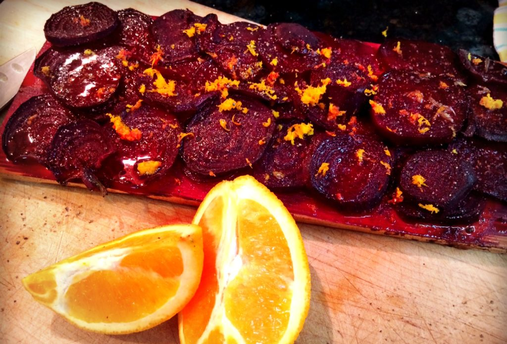 cedar planked beets_smoked beets