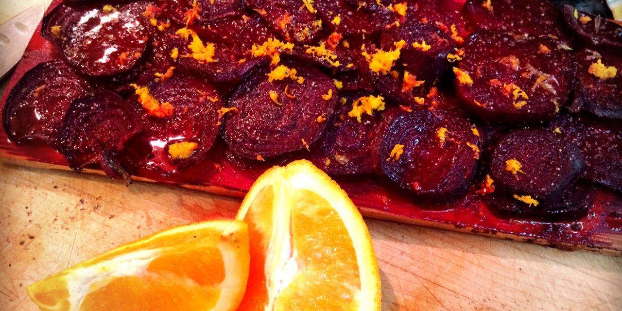 Cedar Planked Citrus Beets