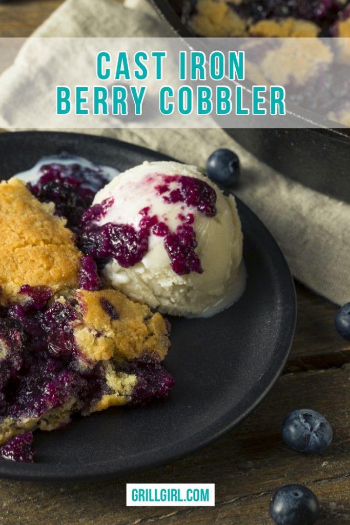 cast iron berry cobbler
