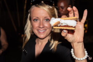 robyn grill girl holding a smore