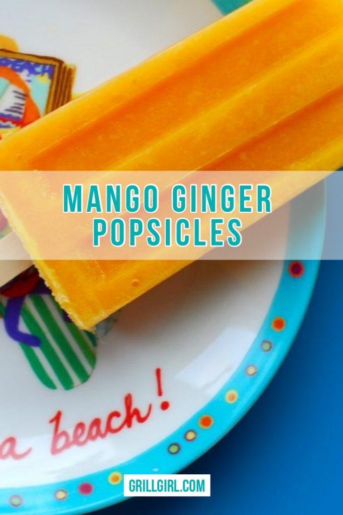 mango ginger popsicles