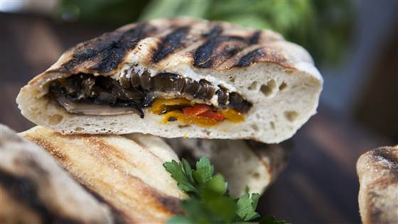 Grilled Sausage & Pepper Calzone Featured On The TODAY Show