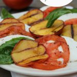 Marinated Steak Skewers With Grilled Peach Caprese Salad
