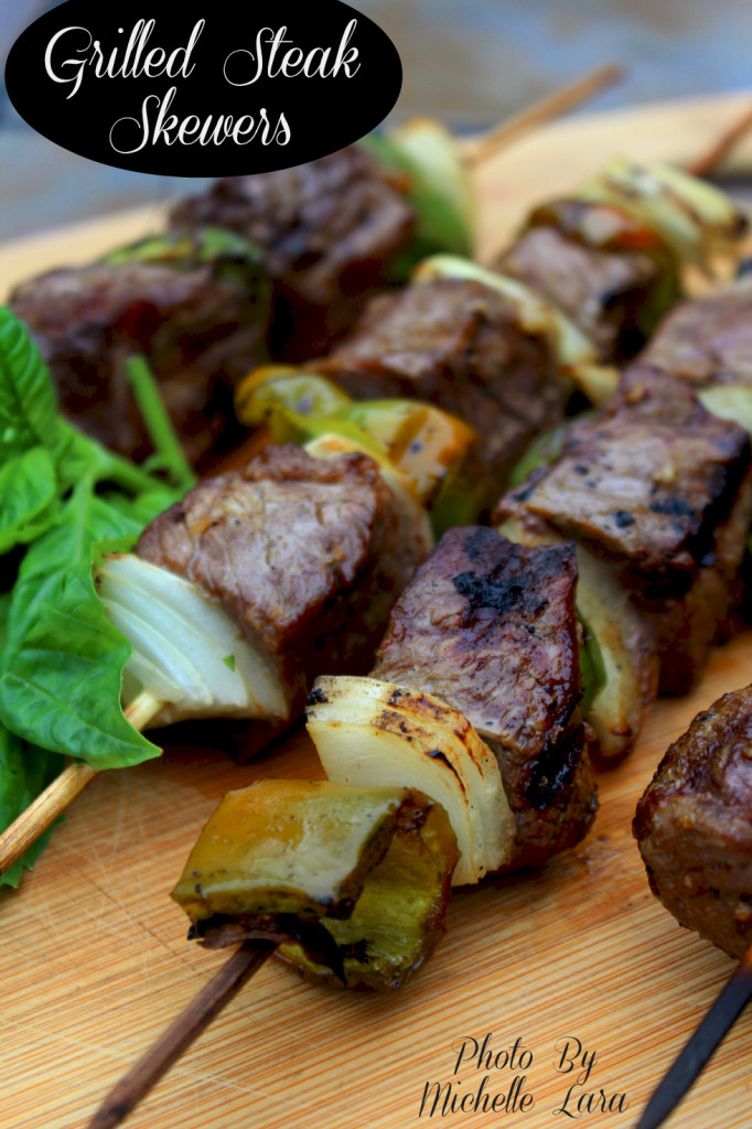 These grilled steak skewers are the perfect meal to feed a crowd - Michelle Lara